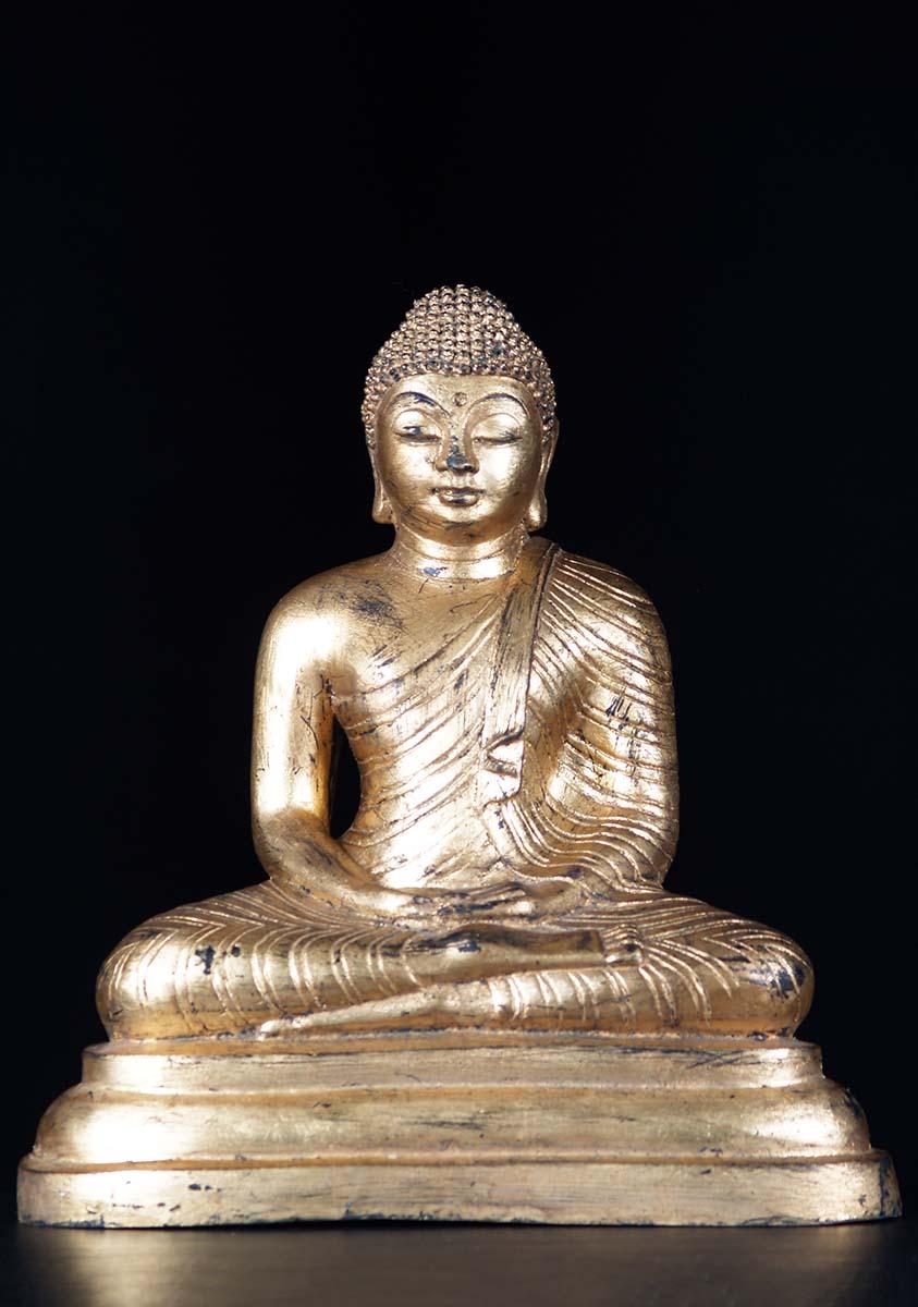 Brass Sri Lankan Meditating Buddha Statue 19 Quot 79t12z