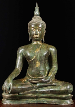 Brass Buddha with Beautiful Antique Patina 45