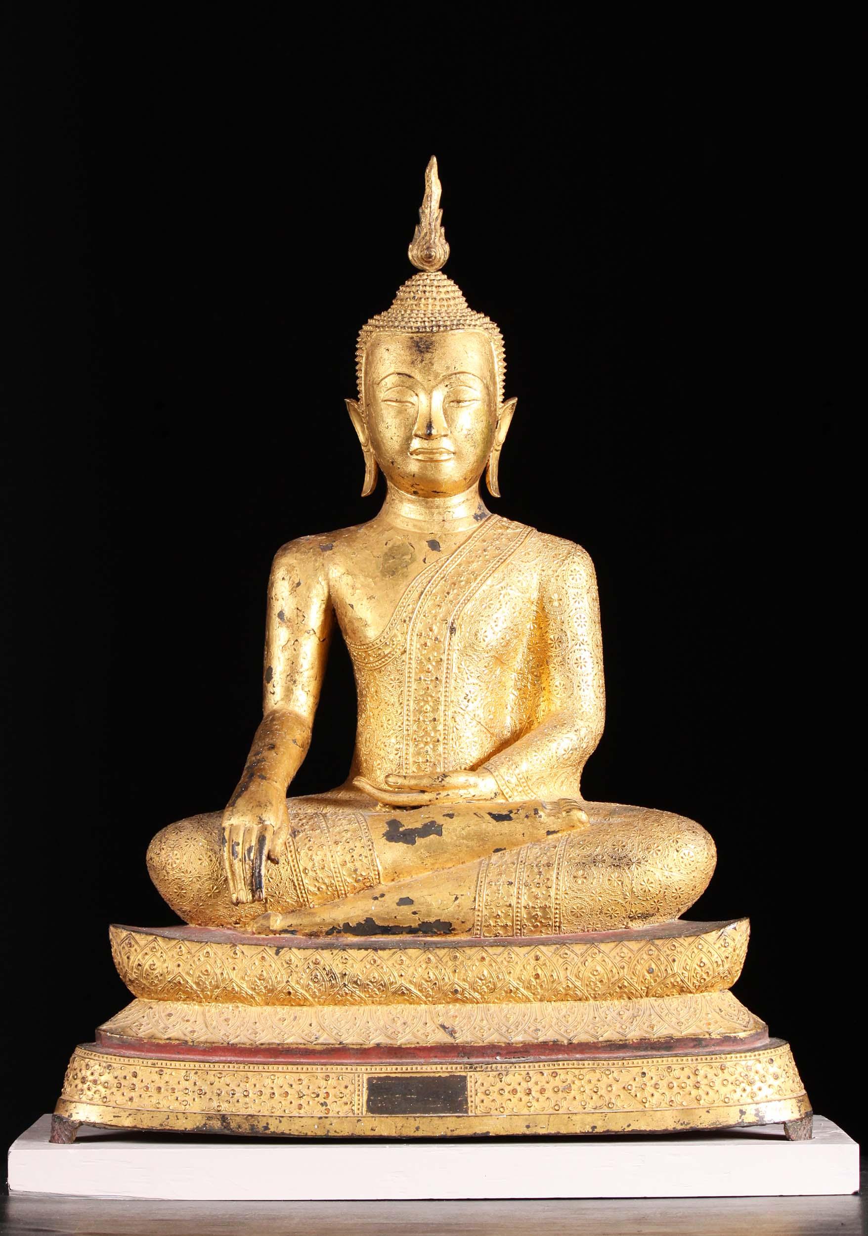 18th Century Antique Thai Ratankosin Buddha 34 Quot 1a13