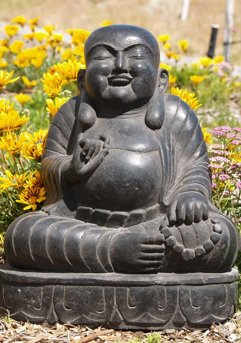 Stone Fat Hy Garden Budai Buddha Statue