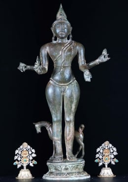 Thai Brass Shiva as Vatuka Bhairava 25