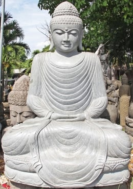 Stone Big Seated Meditating Buddha Statue 98
