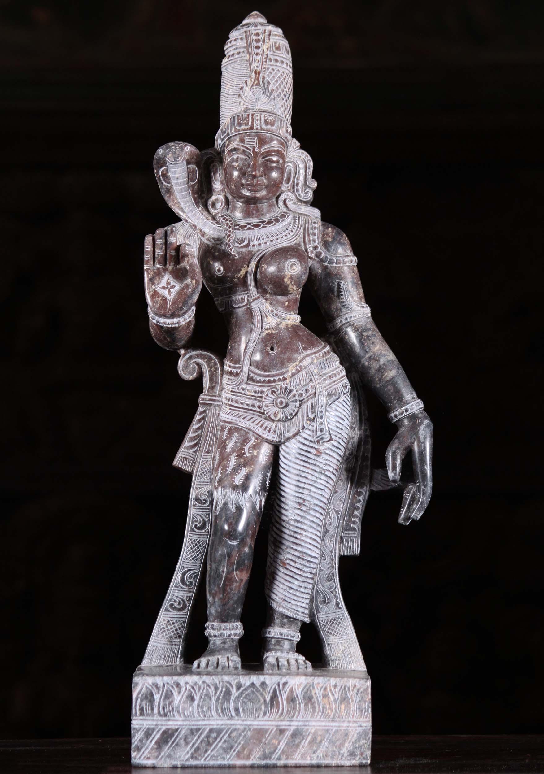 Black Marble Ardhanari Statue 16 Quot 93bm8 Hindu Gods