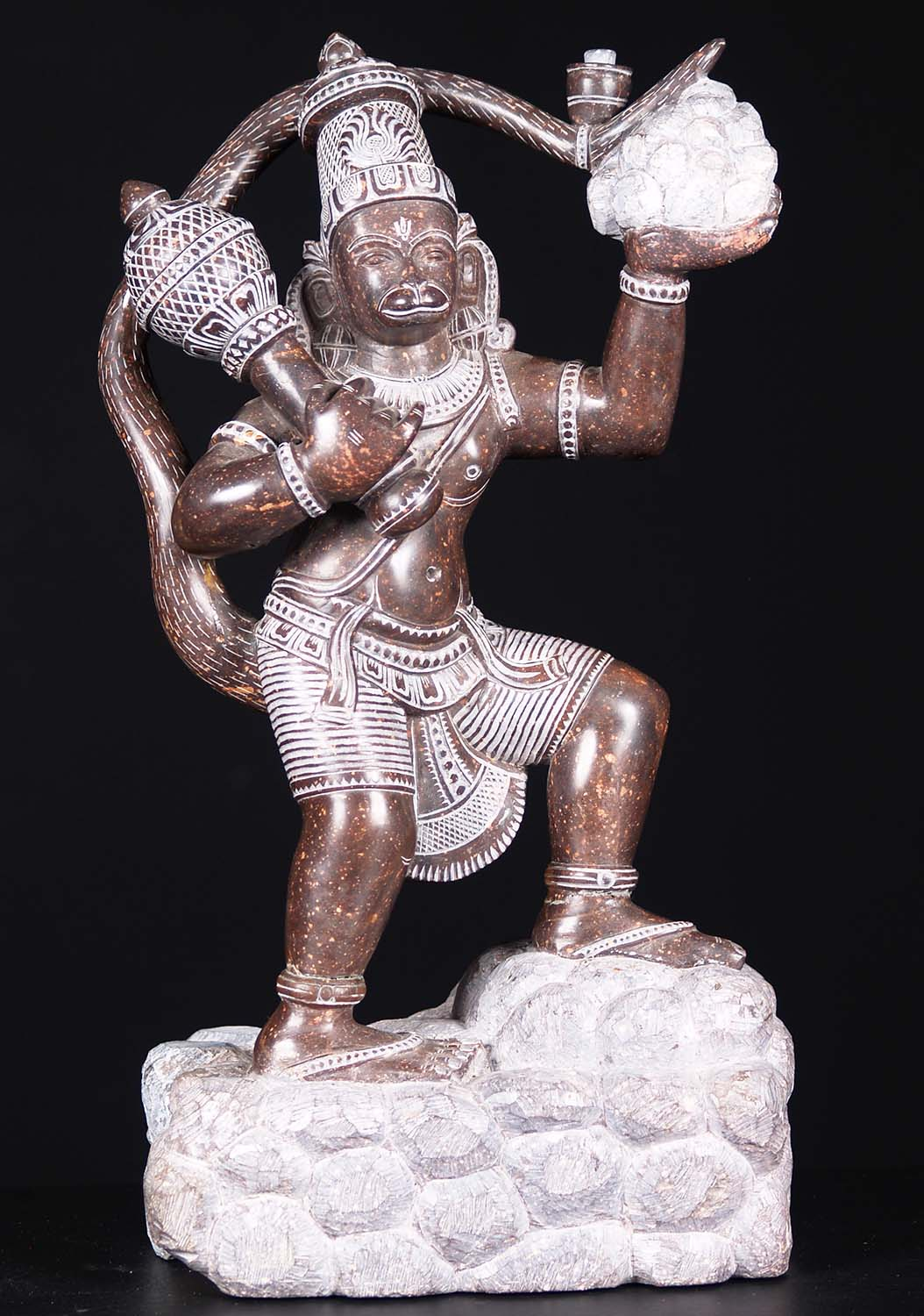 Black Marble Hanuman Carrying Moutain 15 5 Quot 86bm1