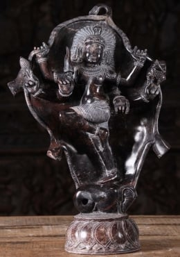 Marble Shiva Battling the Elephant Statue 20