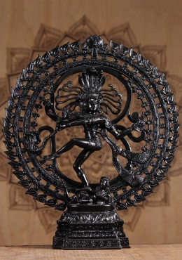 Brass Dancing Nataraja with OM Sign Arch 23