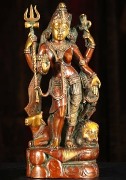 Brass Shiva as Lord Ardhanari Statue 13