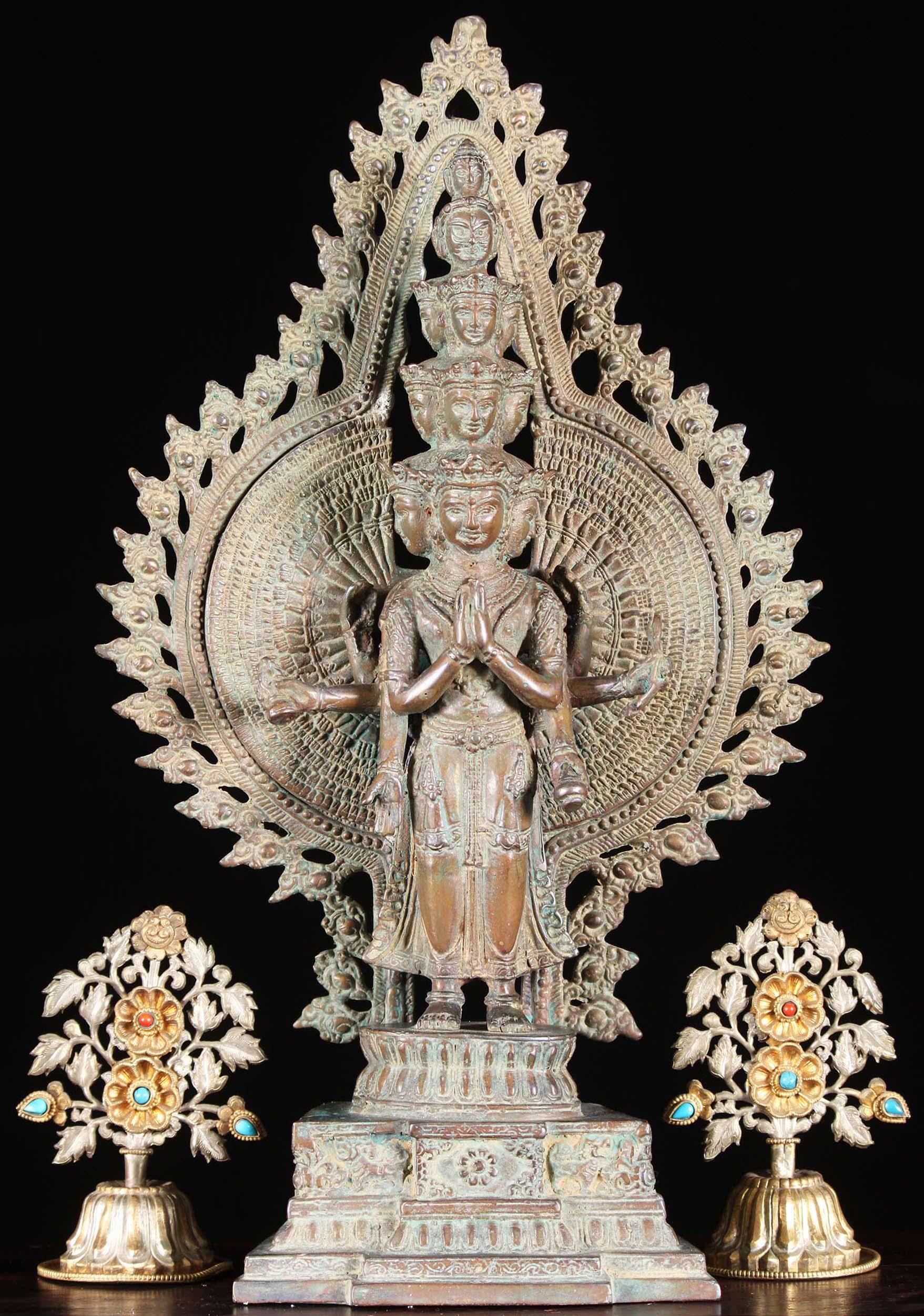 Pity, avalokiteshvara buddha statue casually found