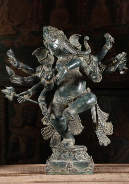 Brass Dancing Ganesh With Many Arms 20
