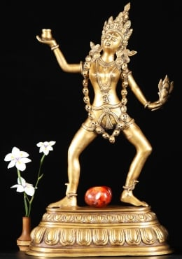 Brass Dancing Kali Sculpture 23