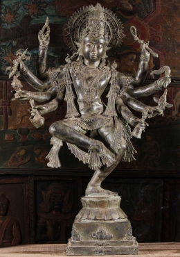 Brass Dancing Shiva Statue with 8 Arms 39