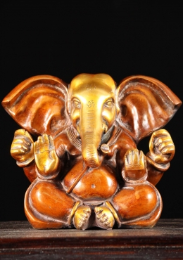 Brass Ganesh Statue With Big Ears 8