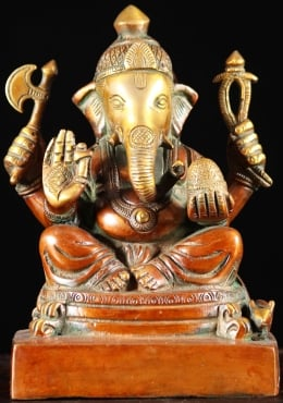 Brass Ganesh With Goad Sculpture 8