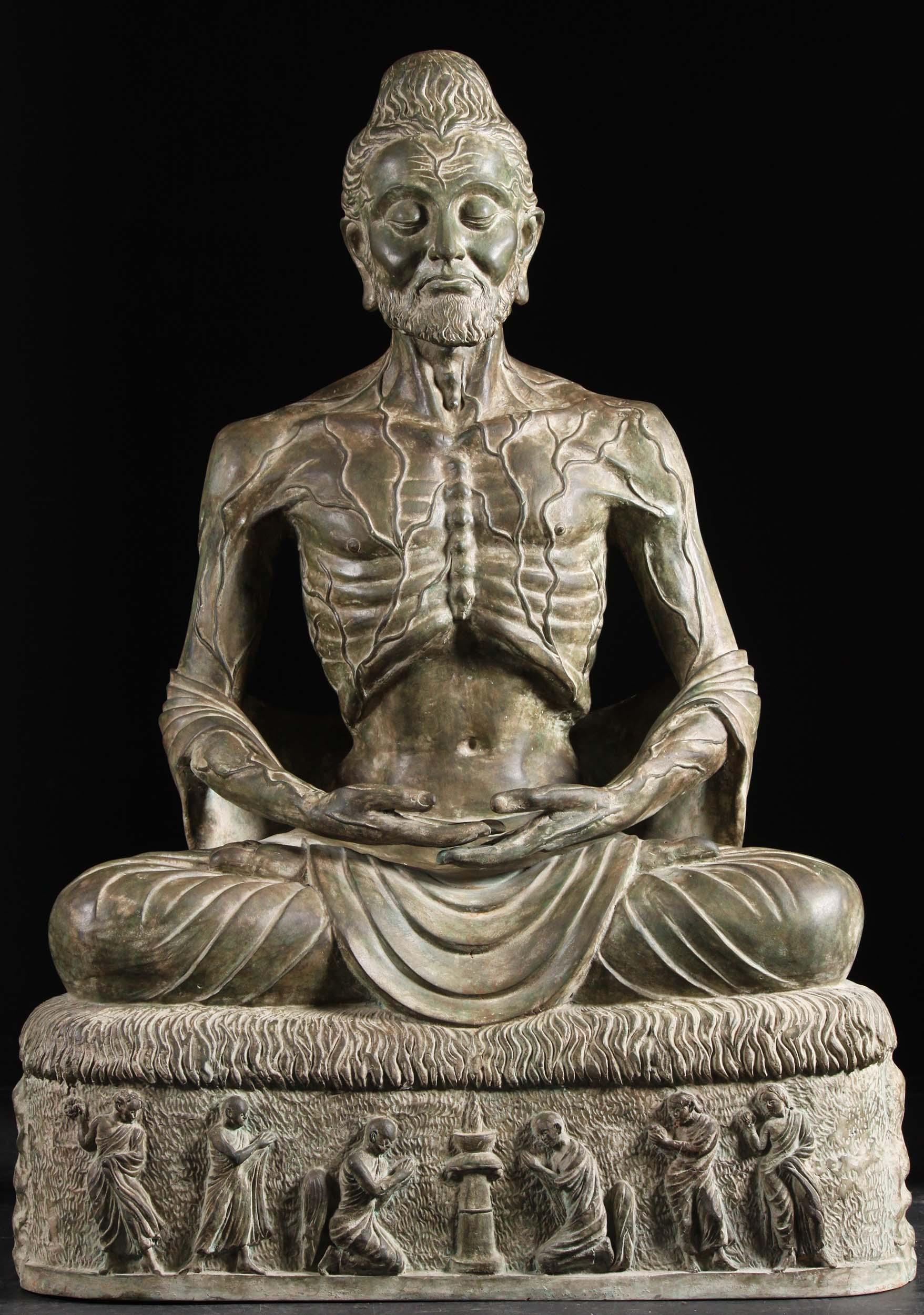 custom brass meditating starving buddha 42 82t16 hindu gods