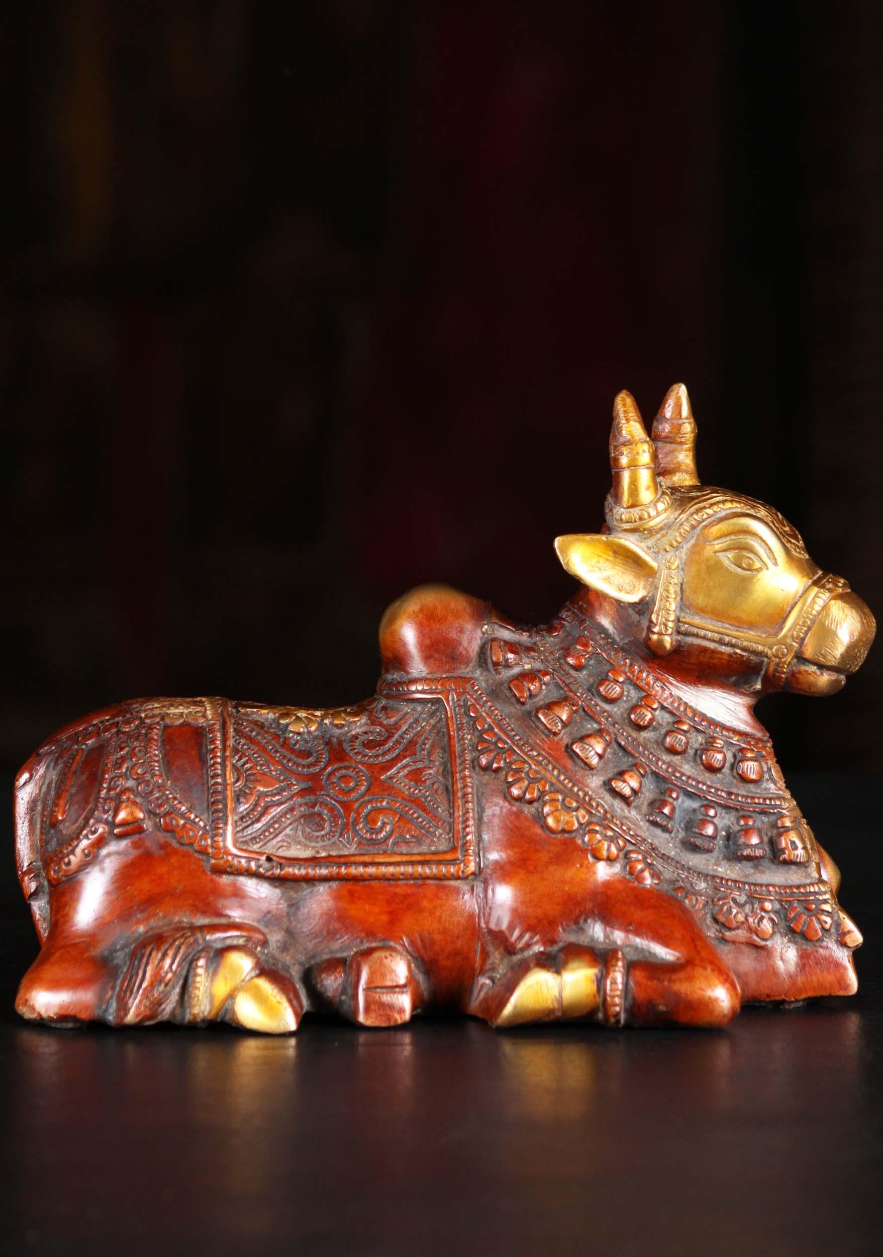 Brass Statue Of Shiva S White Bull Nandi 5 Quot 89bs50z