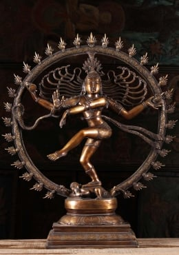 Brass Dancing Shiva as Lord of Dance, Nataraja 32