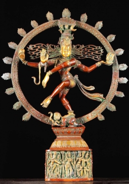 Brass Nataraja With 8 Forms of Shiva on Base 23