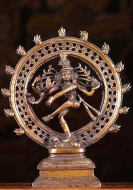 Brass Nataraja Statue with Triple Arch 9.5
