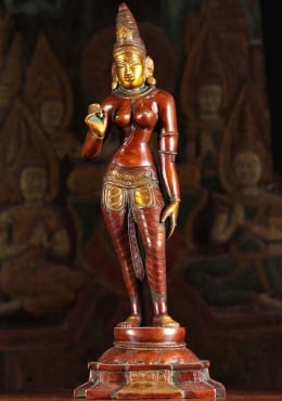 Brass Parvati as Shivakami Statue 18