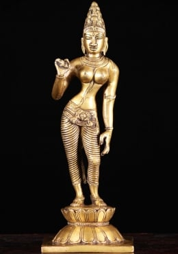 Brass Parvati as Shivakami Sculpture 11