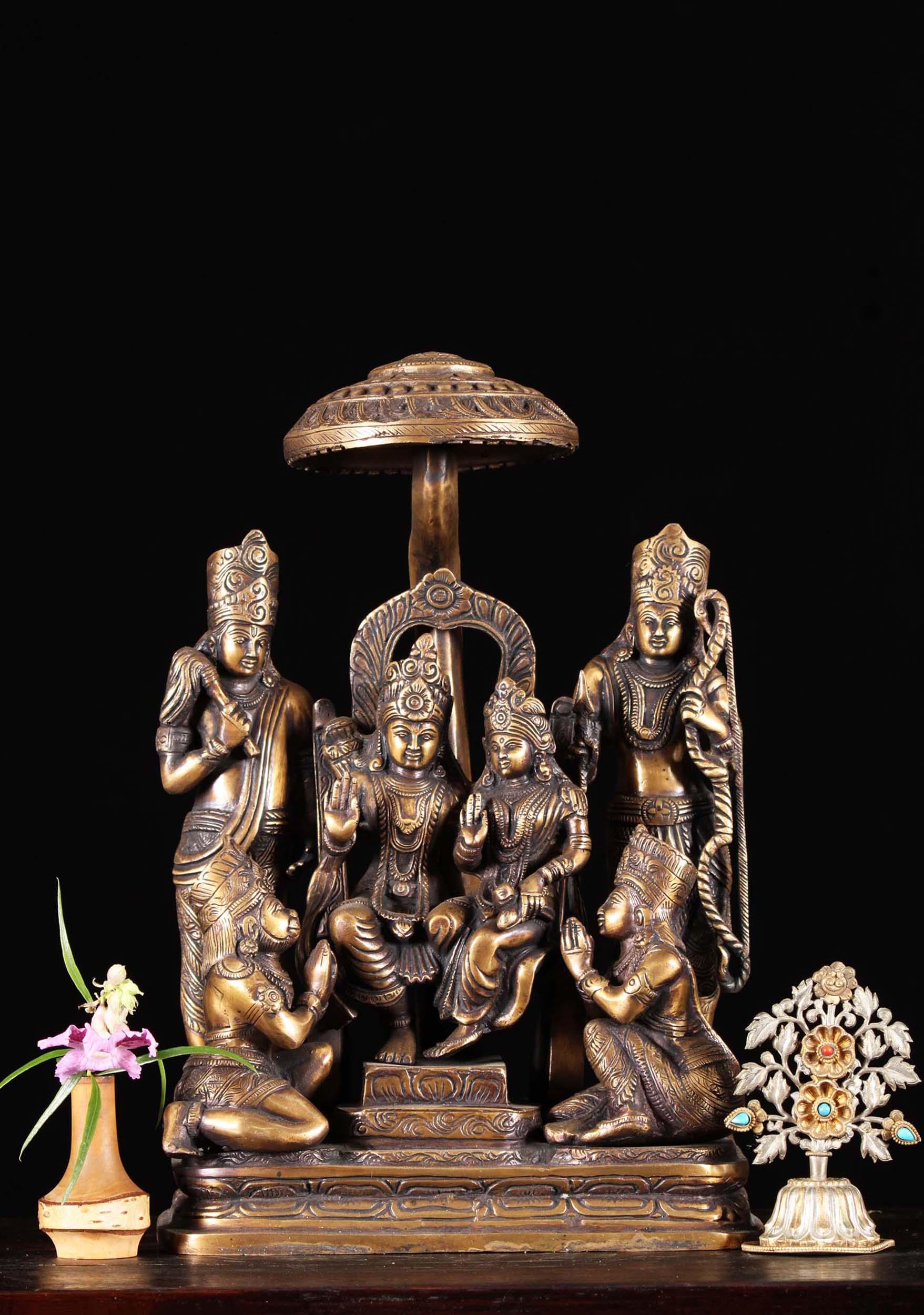 Brass Rama Lakshmana Sita Amp Hanuman Set 15 Quot 89bs72z