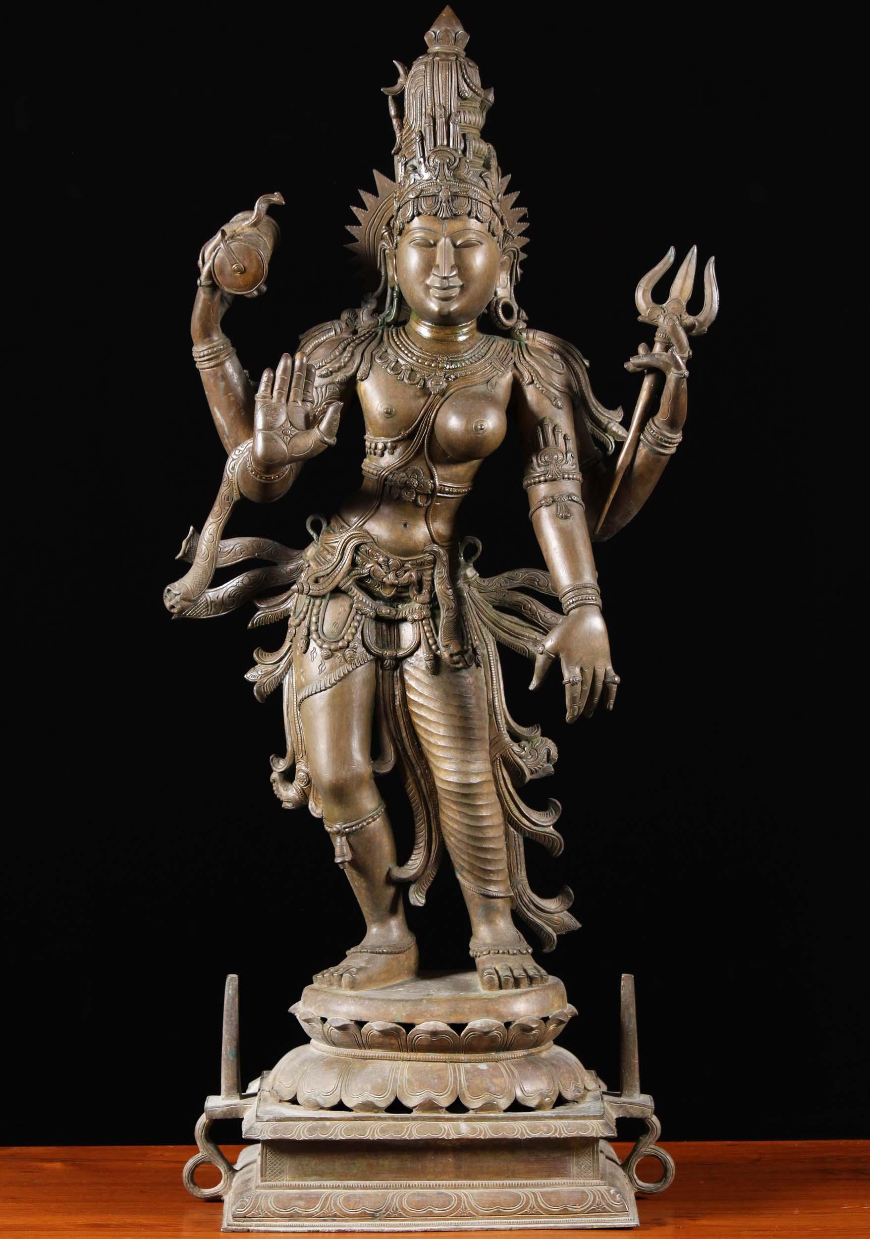 Sold Bronze Shiva As Lord Ardhanari Sculpture 39 Quot 93b30