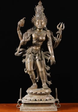 Bronze Shiva as Lord Ardhanari Sculpture 39