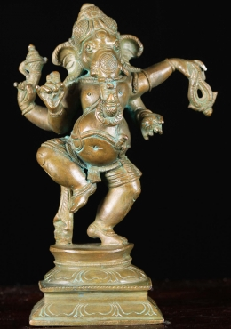 Bronze Small Dancing Ganesh Statue 8