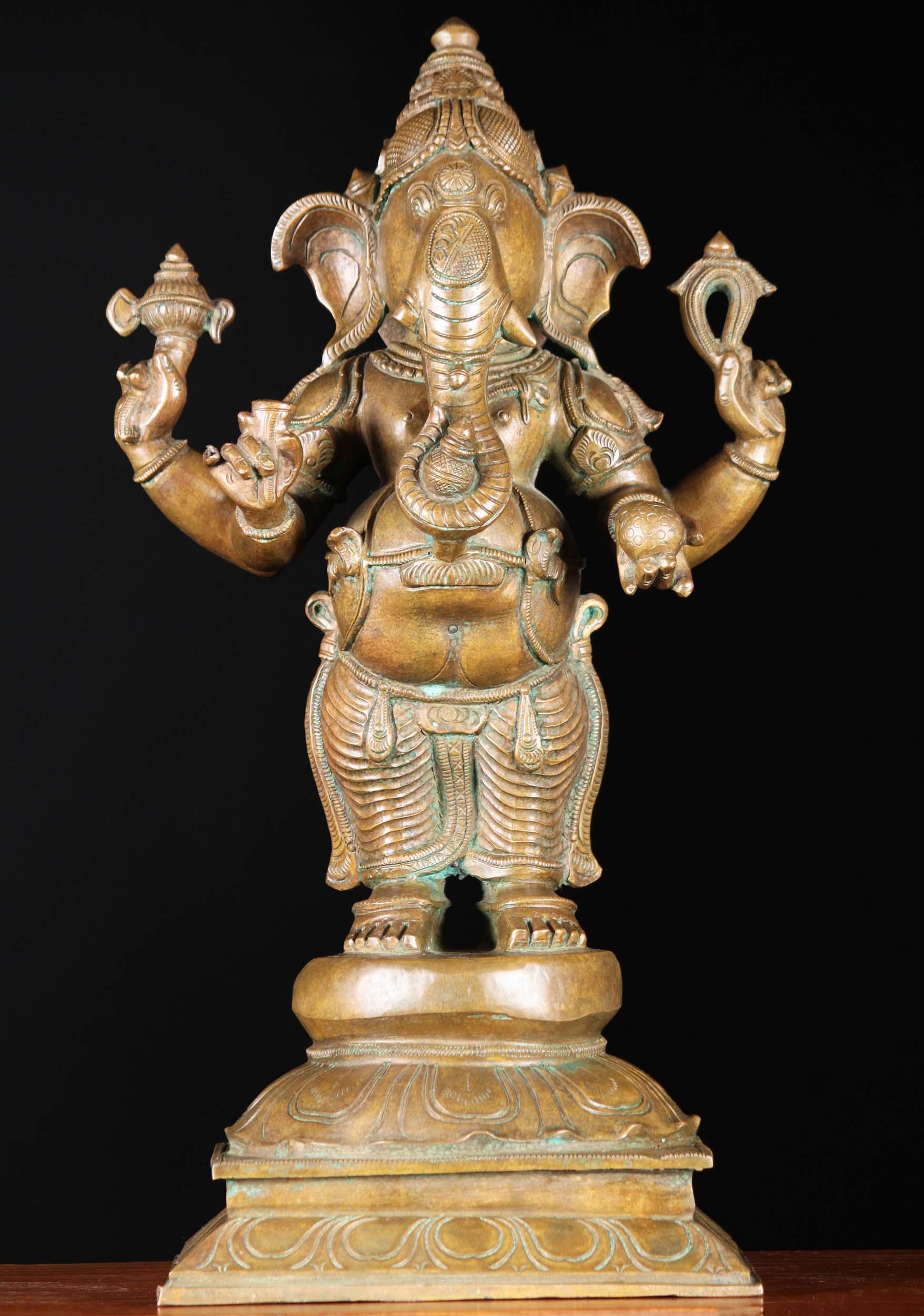 Bronze Ganesh Statue Holding Noose Amp Goad 19 Quot 91b105