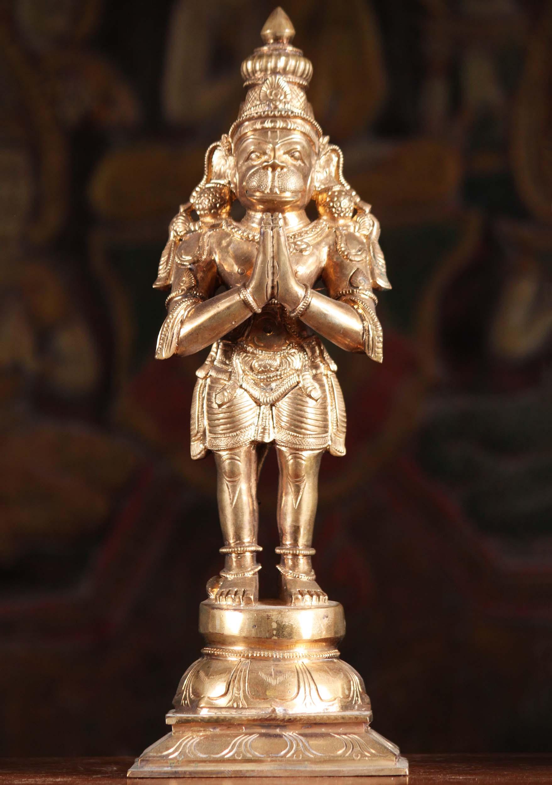 Sold Bronze Namaste Hanuman Statue 13 Quot 91b49z Hindu
