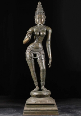 Bronze Masterpiece Parvati as Shivakami Statue 68