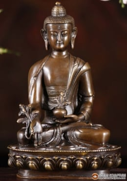 Bronze Medicine Buddha With Alms Bowl 8