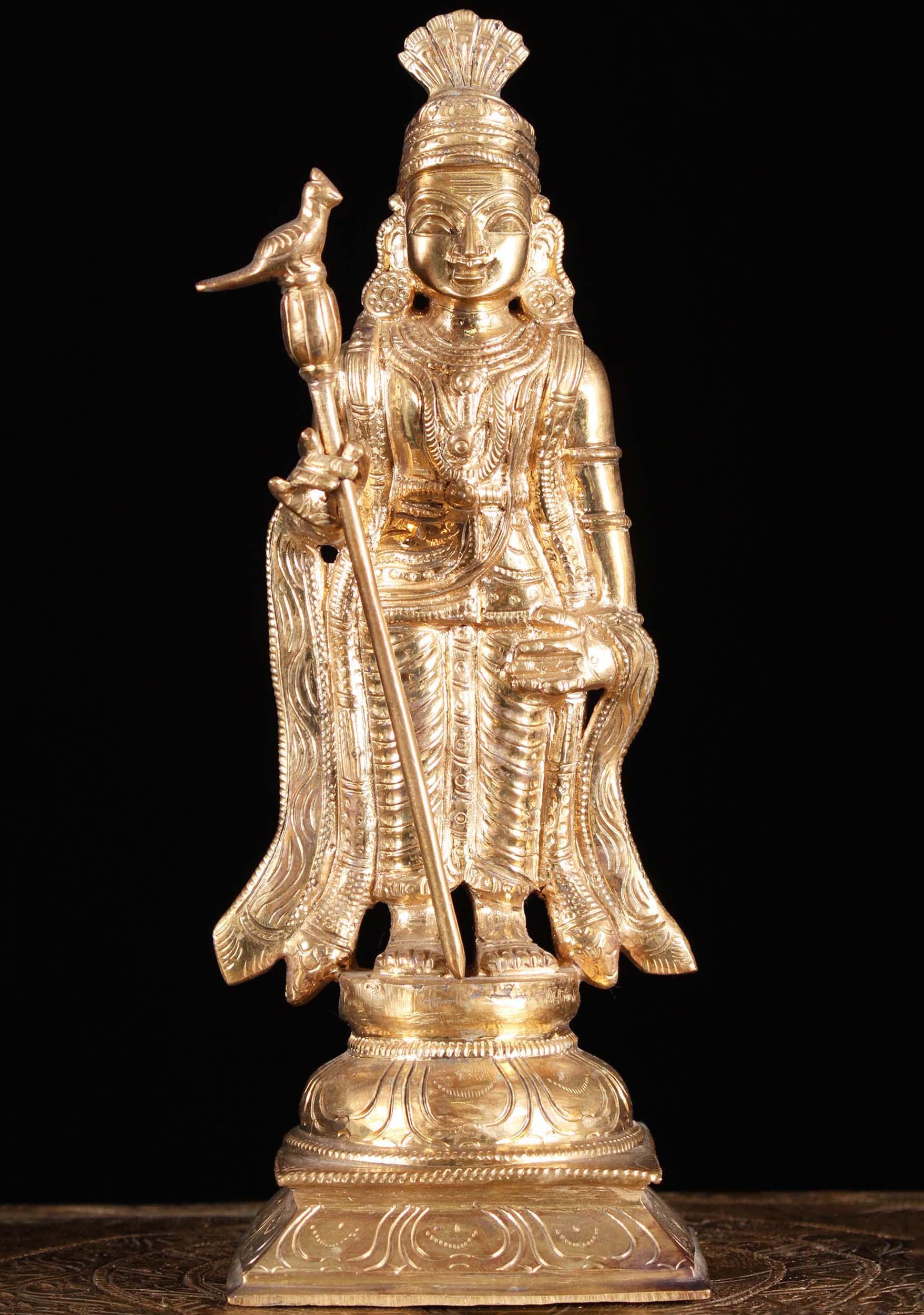 Sold Bronze Raja Alankaram King Murugan Statue 10 Quot 91b15