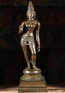 Bronze Parvati as Shivakami Sculpture 34
