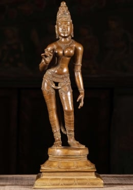 Bronze Parvati As Shivakami Sculpture 16