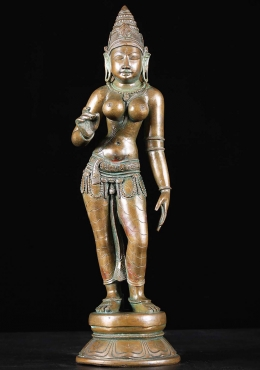 Bronze Parvati As Shivakami Statue 18