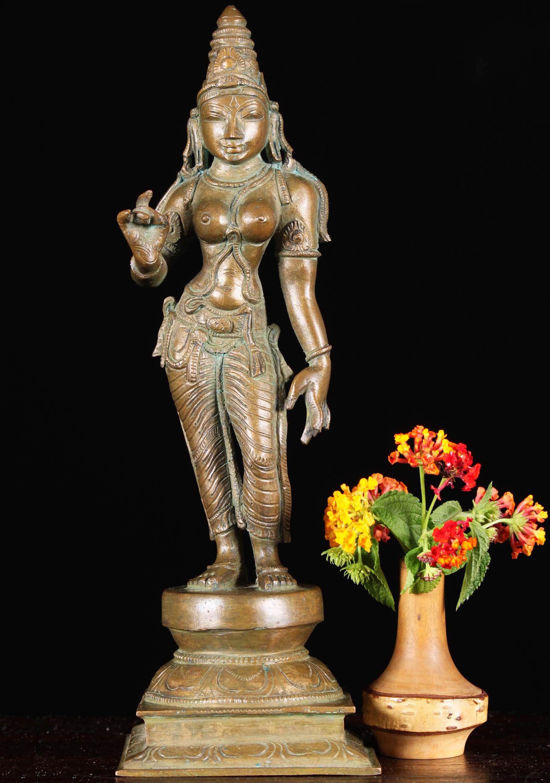 Bronze Standing Parvati As Shivakami Statue 12 Quot 91b53z