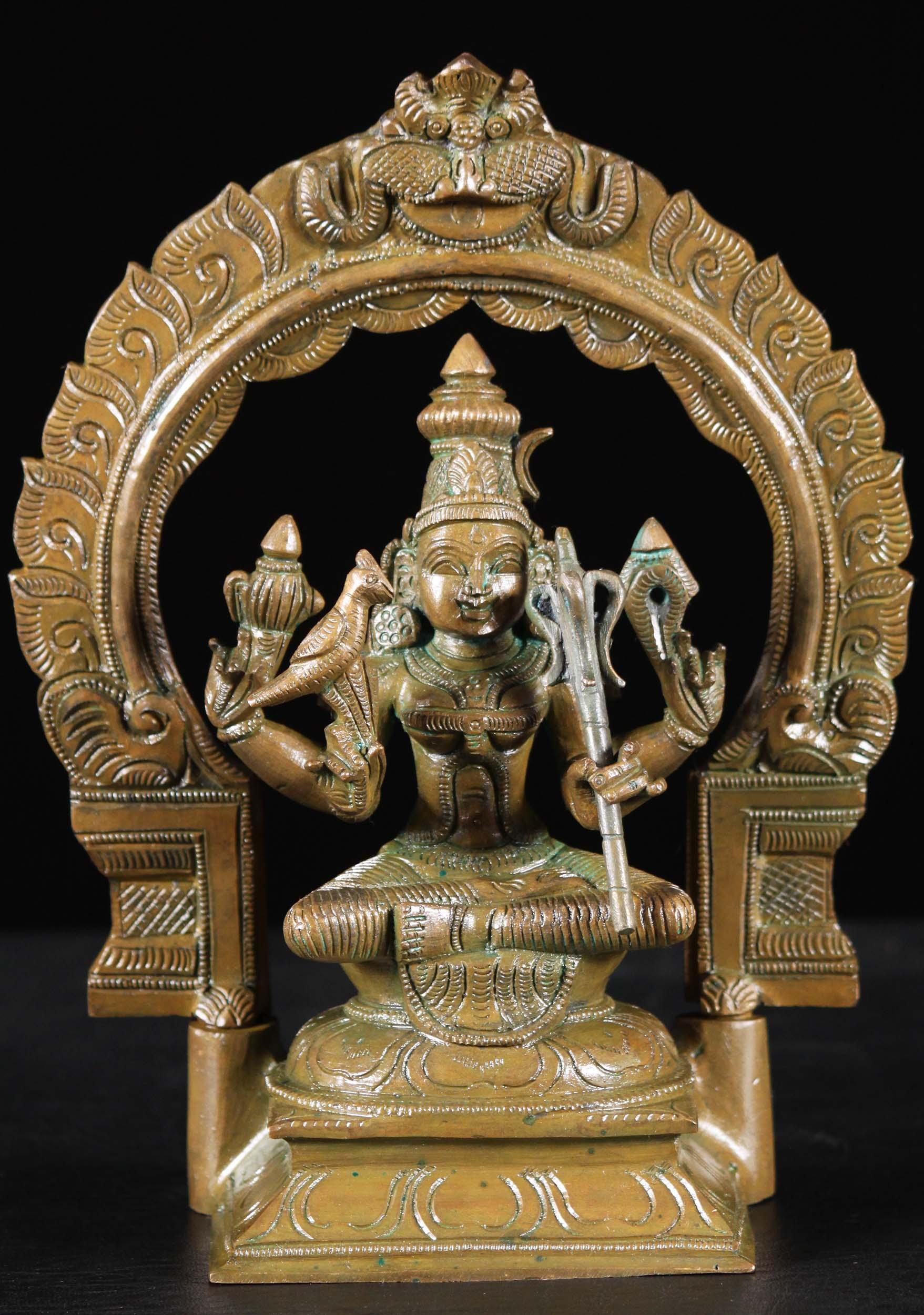 Sold Bronze Kamakshi Hindu Goddess Statue 9 Quot 91b101