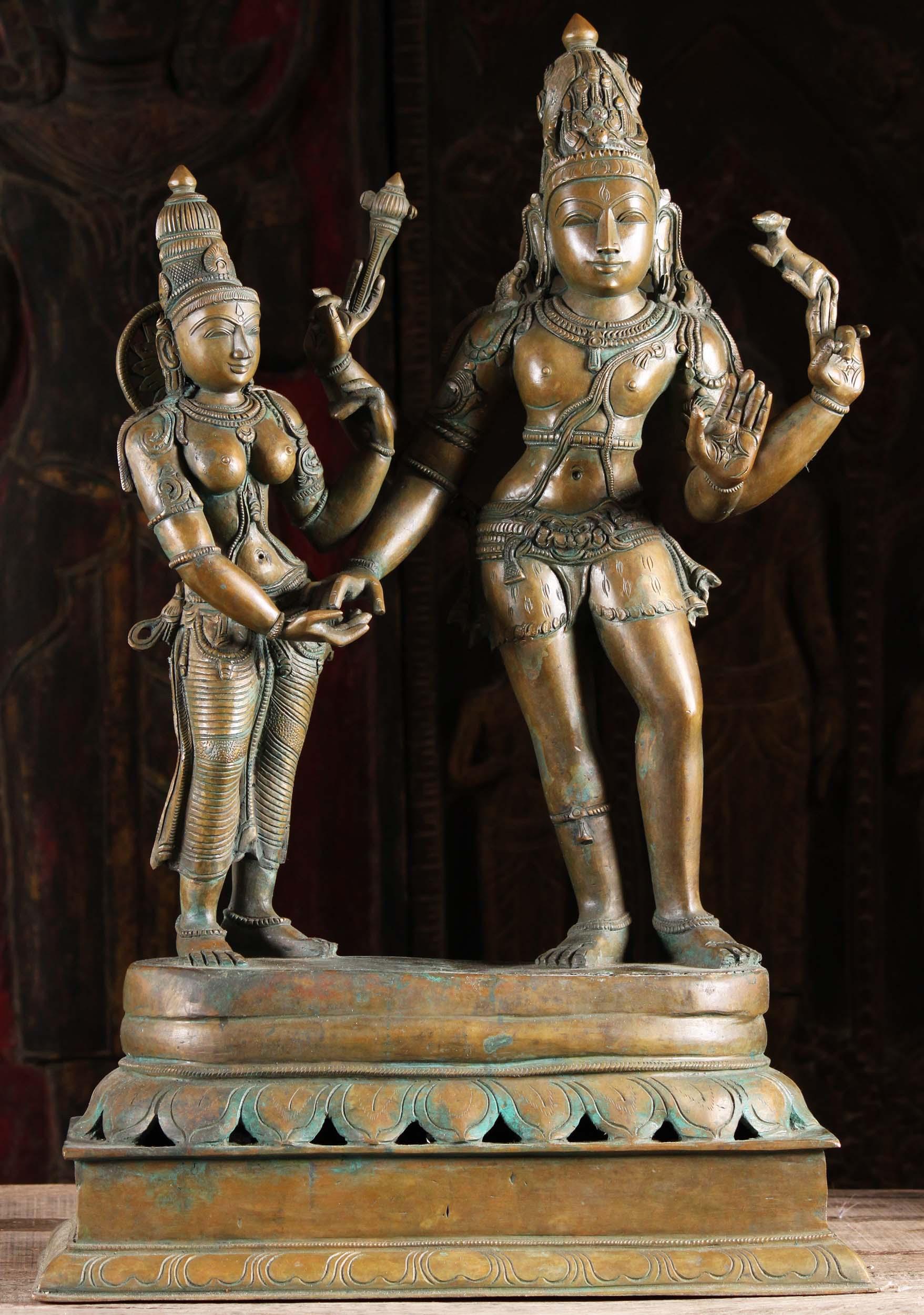 Bronze Statue Of The Marriage Of Shiva Amp Parvati 29
