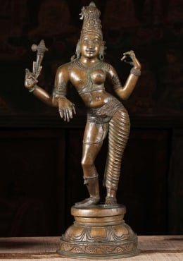 Bronze Shiva as Lord Ardhanari Statue 20