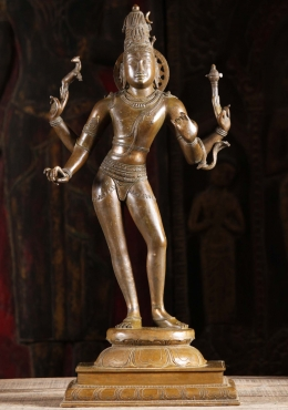 Bronze Tall & Slender Shiva As Lord Vinodhara 24