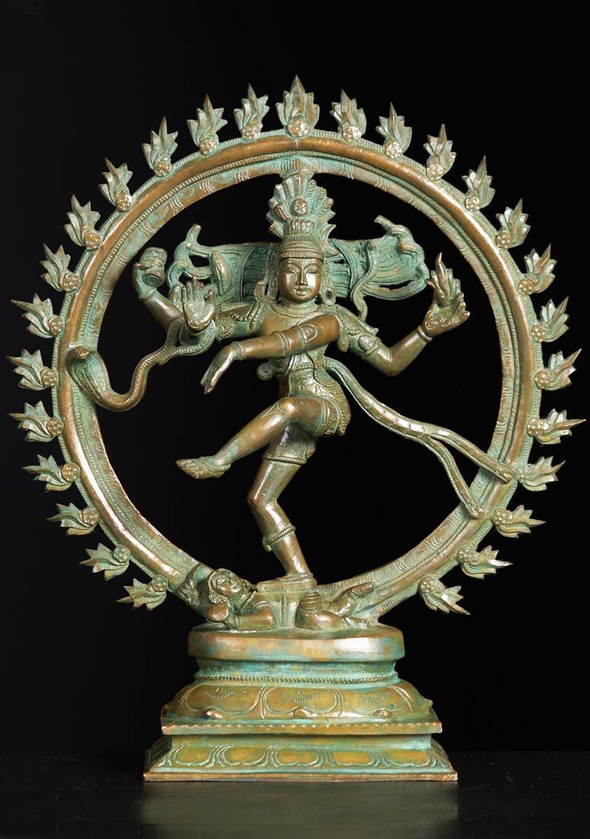 Sold Bronze Shiva Nataraja Statue 13 Quot 74b10g Hindu