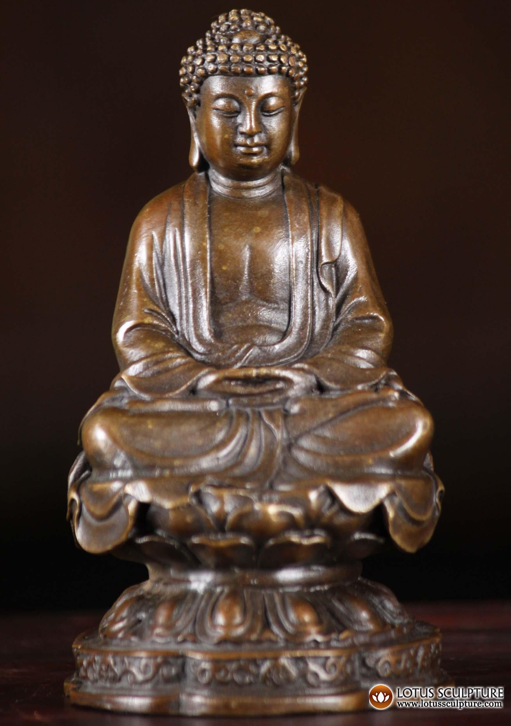 Sold Bronze Small Japanese Buddha Statue 4 Quot 101cb77