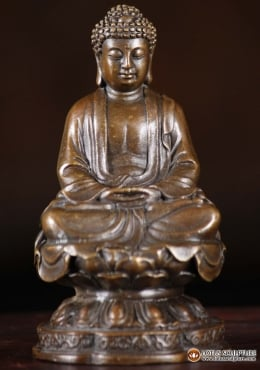 Bronze Small Japanese Buddha Statue 4