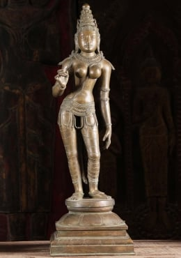 Bronze Statue Parvati As Shivakami 29