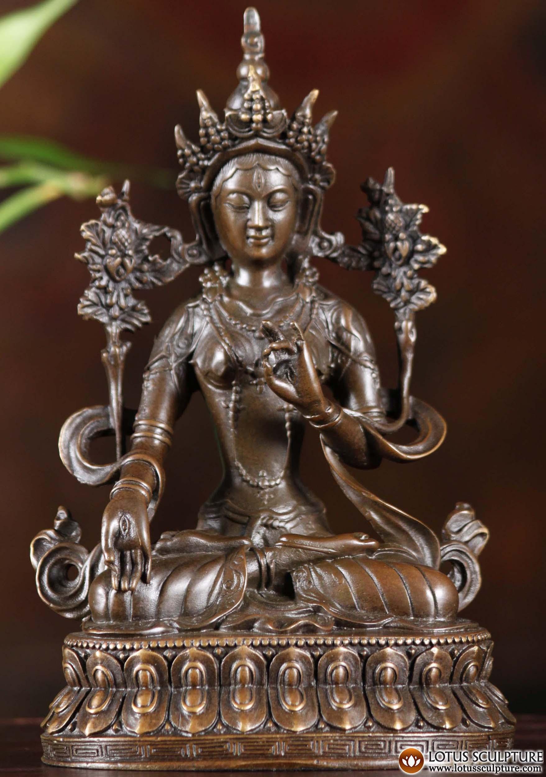 Bronze Bodhisattva White Tara Statue 7 Quot 101cb24 Hindu