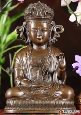 Bronze Teaching Japanese Buddha Statue 10