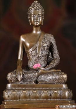 Bronze Earth Touching Buddha Statue 9