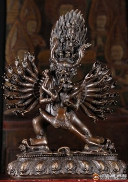 Bronze Yamantaka Statue with Consort Vetali 19