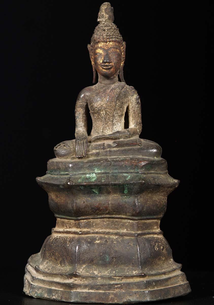 Antique Bronze Laotian Buddha Statue 9 Quot 5a8 Hindu Gods
